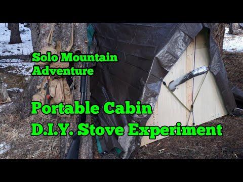 Portable Cabin, Sled & DIY Tent Stove, Sub Zero Back Country Adventure.