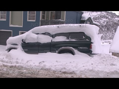 Park City Utah Winter Storm Continues - 12/23/2015
