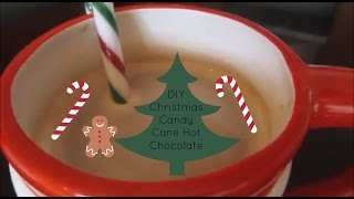 Diy Christmas Candy Cane Hot Chocolate | Misscharlottebeauty1