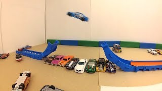 Toy Cars Jumps and Crashes