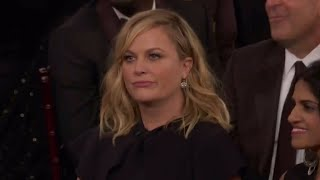 Amy Poehler refuses Seth Meyer's punch line during 'mansplaining part' of 2018 Golden Globes