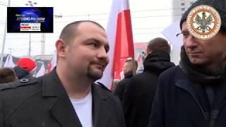 Rafał Orłowski na Marszu Niepodległości. Ogromne emocje podczas wywiadu!