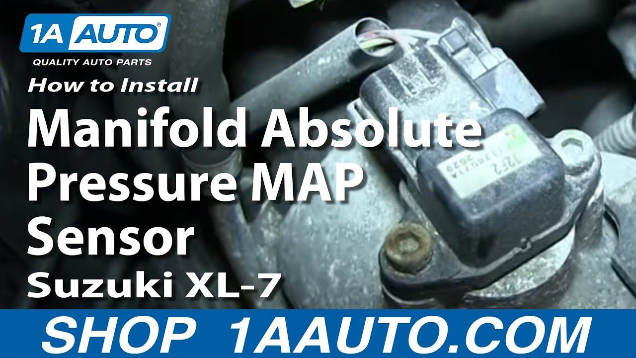 medium resolution of how to install replace manifold absolute pressure map sensor suzuki xl 7 youtube