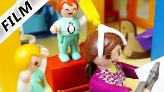 Playmobil Film deutsch KLEBER IN DEN HAAREN - Spielt Emma in Kita Streiche? Kinderfilm Familie Vogel
