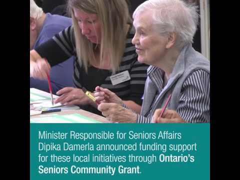 Minister Damerla Announces Ontario's Seniors Community Grants