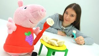 Детское видео. СВИНКА ПЕППА новая серия! Peppa Pig, Катя и пельмени Play-Doh.  РЕЦЕПТЫ и #Плюшики!