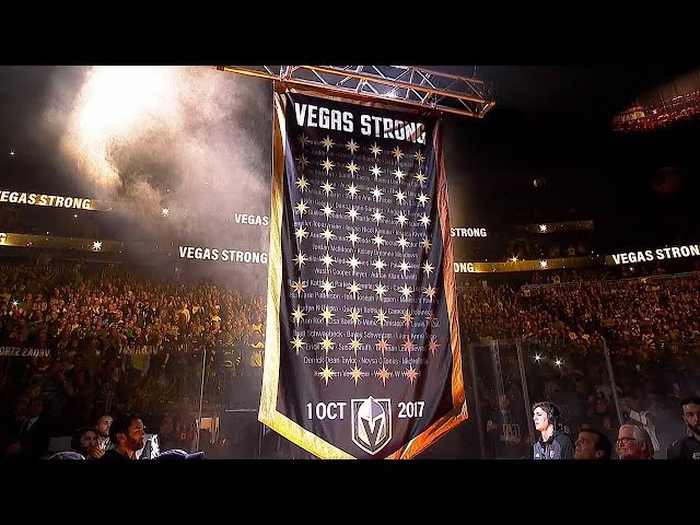 Golden Knights retire No. 58 in honor of victims of October tragedy