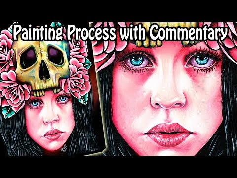 Painting Process With Commentary | The Face of Death