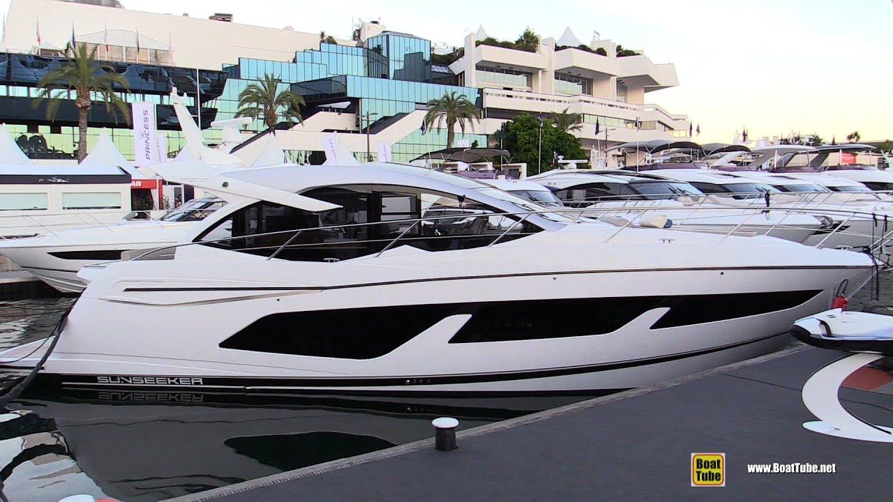 2019 Sunseeker Predator 50 Luxury Yacht Deck Interior Walkaround 2018 Cannes Yachting Festival