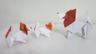 Tutorial - Origami Dog (the Papillon) From The Book 'genuine Origami'  By Jun Maekawa