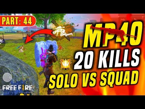 One Vs Four 20 Kills With MP40 Operation - Garena Free Fire