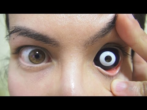 How to: Insert And Remove 24.0 mm Night Life Sclera Contact Lenses (Fxeyes)