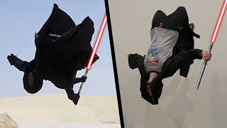 Stunts From Star Wars In Real Life (Lightsaber Parkour)