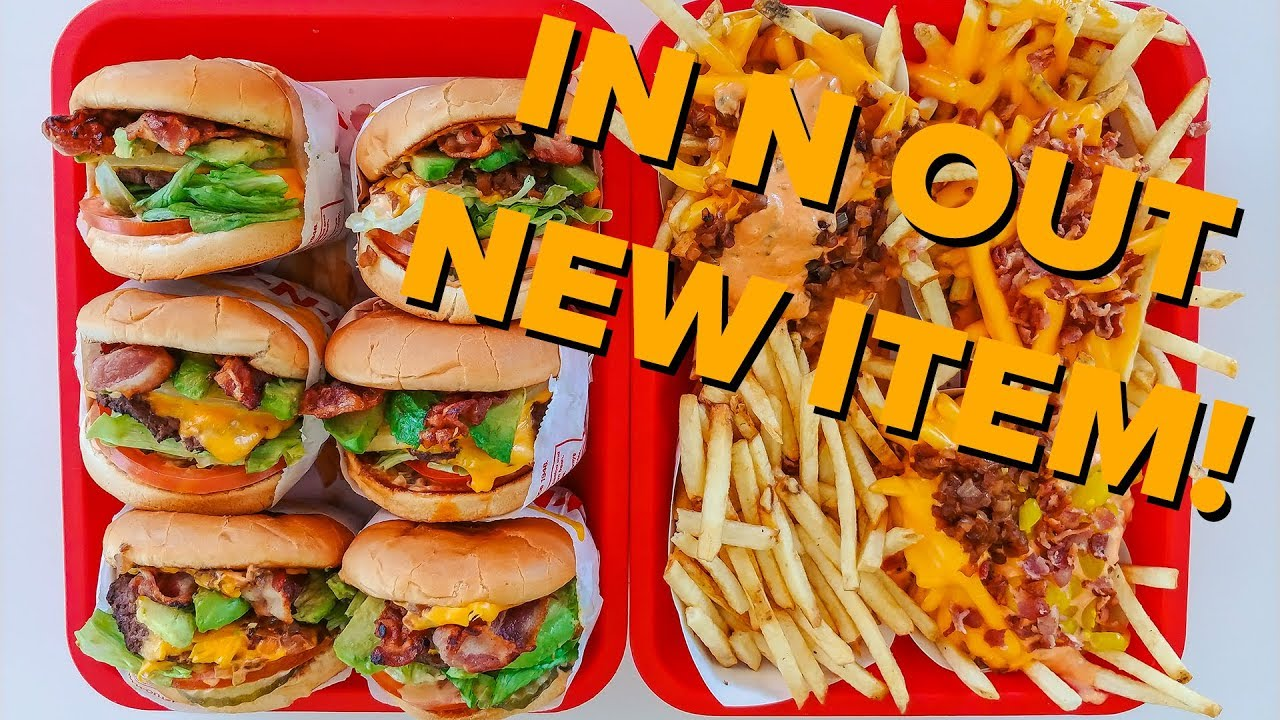 new cali style burger from in n out youtube