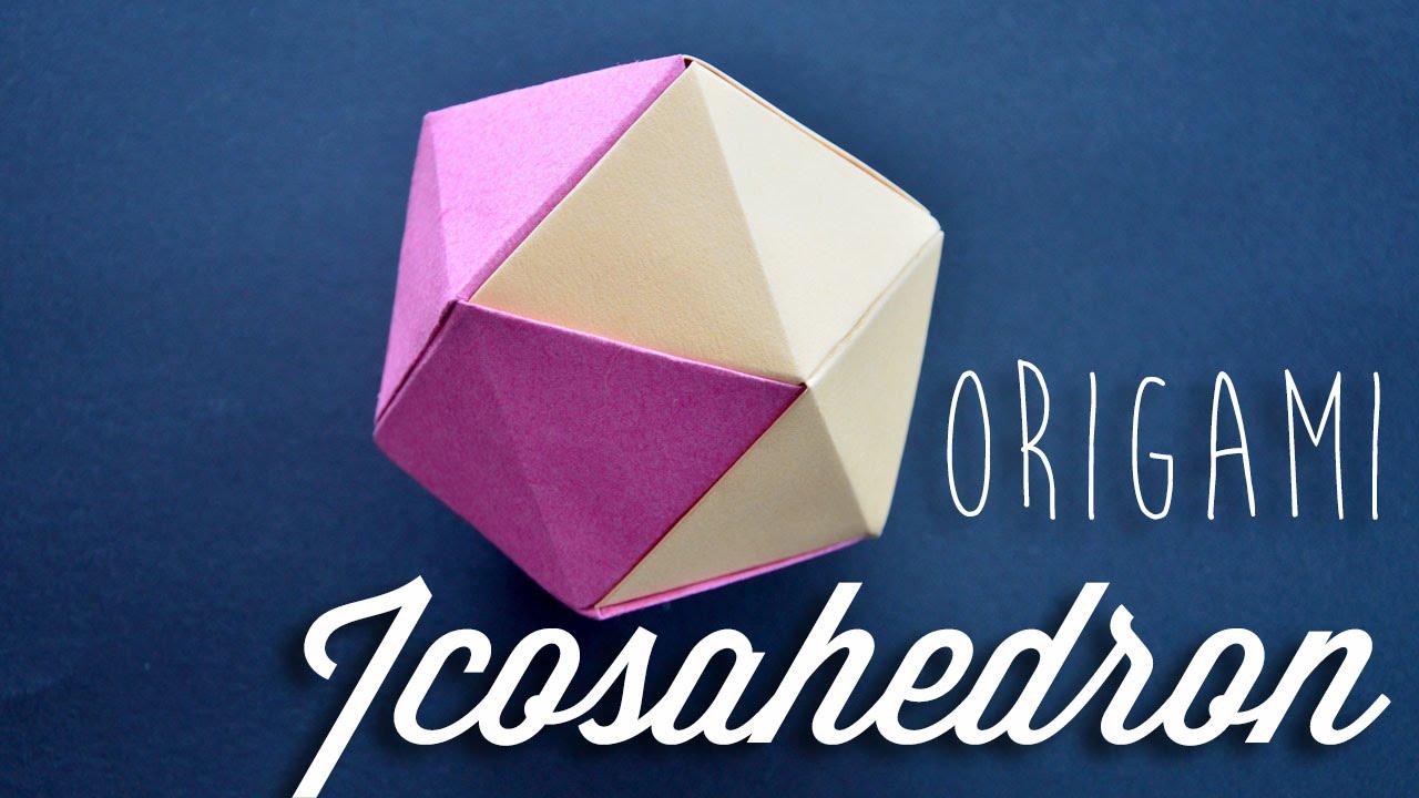 origami icosahedron youtube