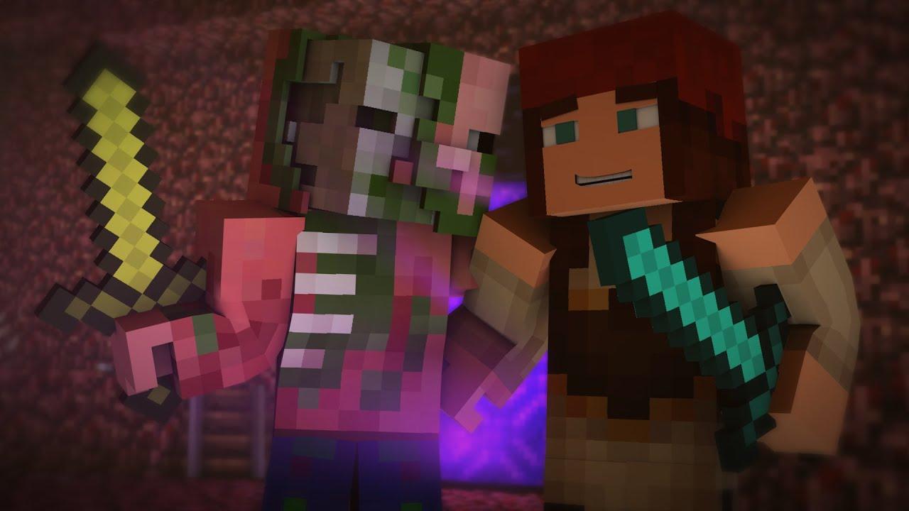 Zombie Pigman Stole My Girlfriend Minecraft Animation
