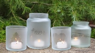 DIY - Frosted Candle Jars Tutorial