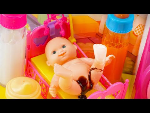 Mainan Anak Play Doh Bayi Boneka Memasak Makan Pizza Spaghetti Baby Doll And Play Doh Cooking Toys Youtube