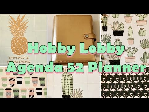 HOBBY LOBBY PLANNER Flip Through AGENDA 52 THE PAPER STUDIO