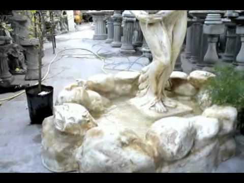 Fuente de agua tipo rocas artificiales para salones de for Aspersor de agua para jardin