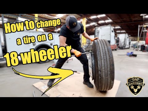 How to change a tire on a 18 wheeler