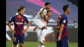 Barcelona vs bayern munich    uefa champions league 2020 full match highlights