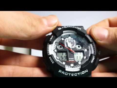 Как настроить часы модели casio g-shock ga копию.