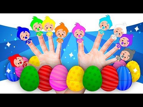 ¡10 Huevos Sorpresa De Familia Dedo!