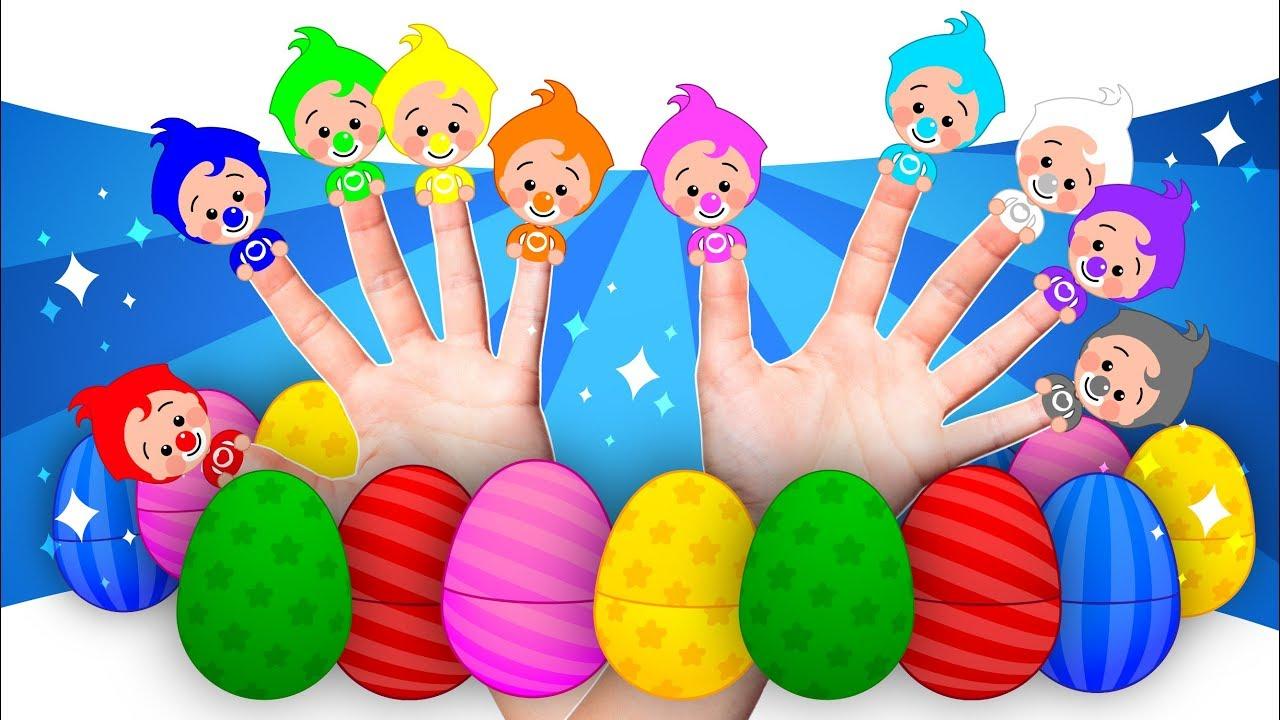 Download ¡10 Huevos Sorpresa De Familia Dedo! 🎁 Aprender Colores Y Canciones Infantiles   Plim Plim