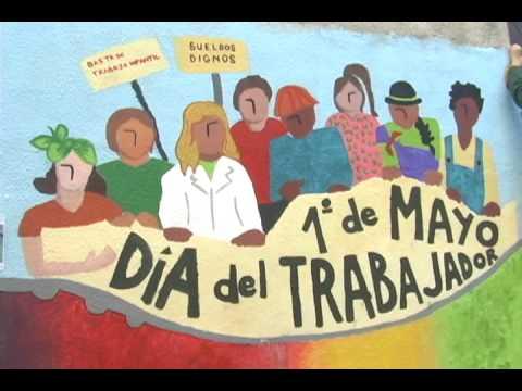 Mural 1 de mayo de 2009 youtube for Deportes para un periodico mural
