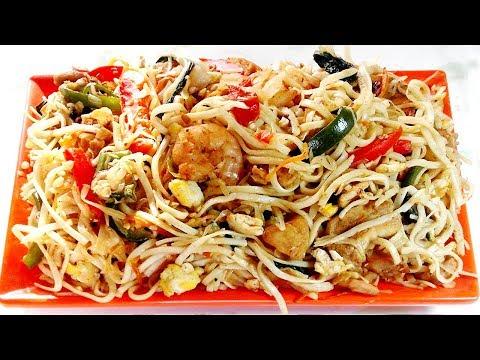 থাই চিকেন নুডুলস রান্না রেসিপি – Thai Chicken Noodles Recipe – Bangladeshi Thai Ranna Recipe Bangla