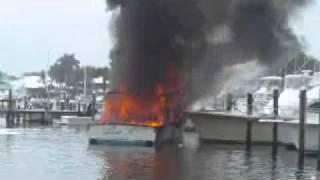 Boat fire Stuart FL 3/28/11