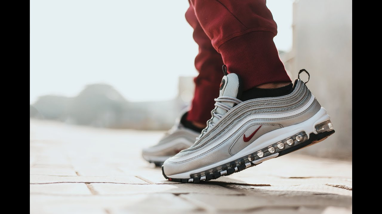 c74cb8b3cc871 Nike Air Max 97 OG (Silver Bullet) - Unboxing and On Feet Video ...