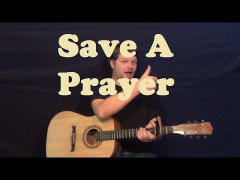Save a Prayer (Duran Duran) Guitar Lesson Strum Chords Licks How to Play Tutorial
