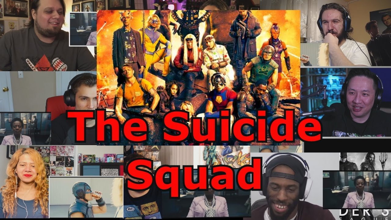 Reacciones : The suicide squad - Trailer - Mashup