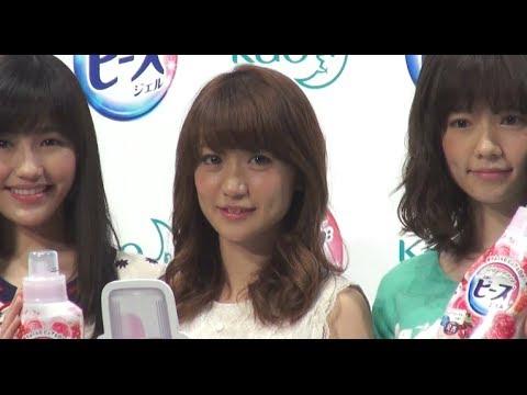 大島優子オーラを消して電車移動 花王フレグランスニュービーズ新CM発表会