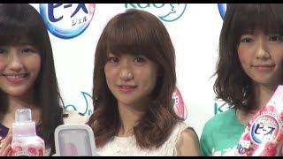 AKB48の大島優子が、都内で行われた花王『フレグランスニュービーズ』の新CM発表会に出席。オバマ米大統領の来日を受け「交通規制があったので...