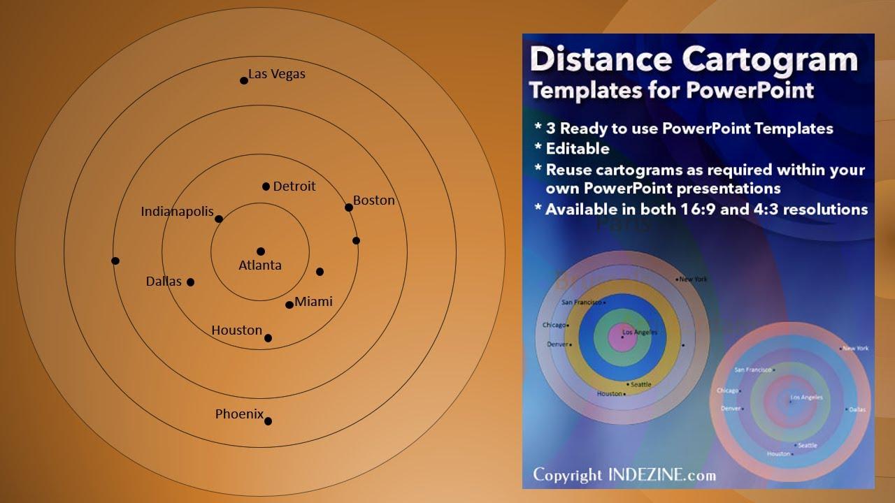 Distance Cartogram PowerPoint Templates - YouTube