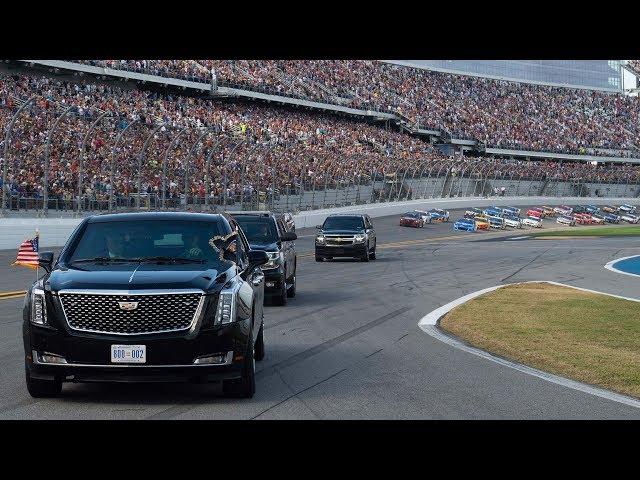 Donald Trump takes 'the Beast' around Daytona 500 track