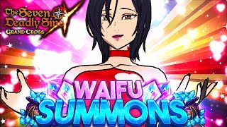 A GIRLS ONLY BANNER?! WAIFU BANNER SUMMONS!! | Seven Deadly Sins: Grand Cross