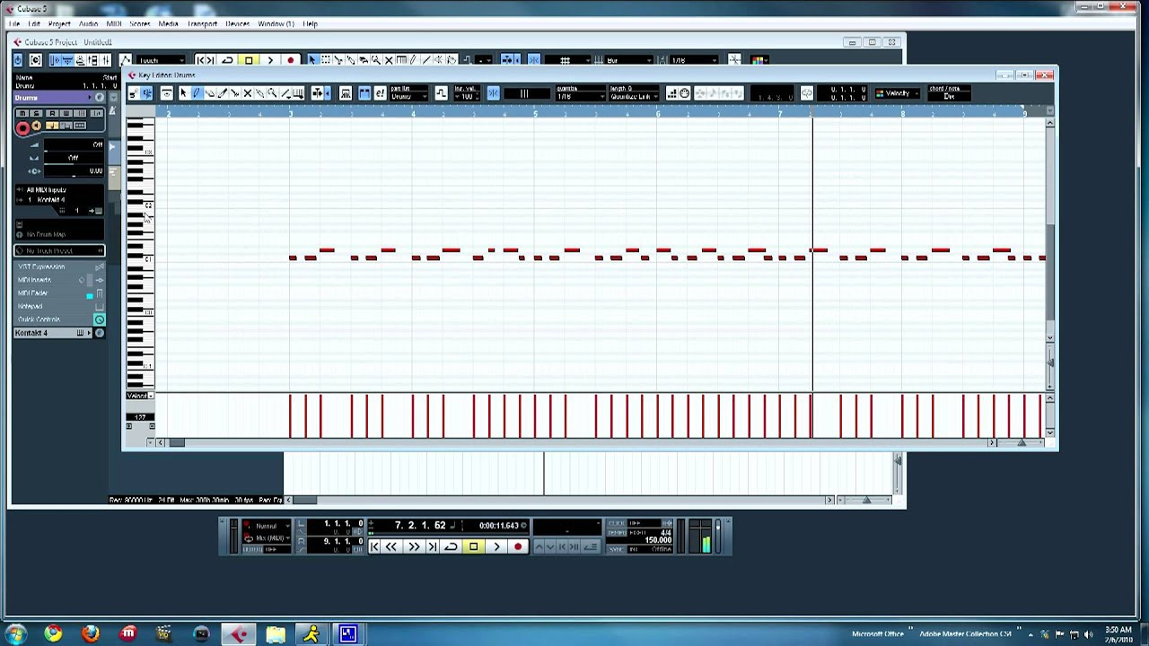 how to make drums with the midi editor in cubase 5 tutorial youtube rh youtube com Cubase Elements Cubase SX Torrents