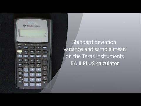 Standard Deviation, Variance And Mean On The TI II Plus Calculator
