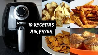 10 RECEITAS NA AIRFRYER | FRITADEIRA SEM ÓLEO