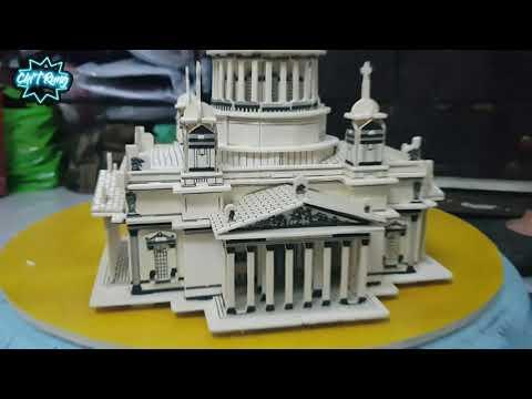 Lắp ráp mô hình nhà thờ Issa Kiev Cathedral Bằng gỗ - woodcraft construction kit 3D