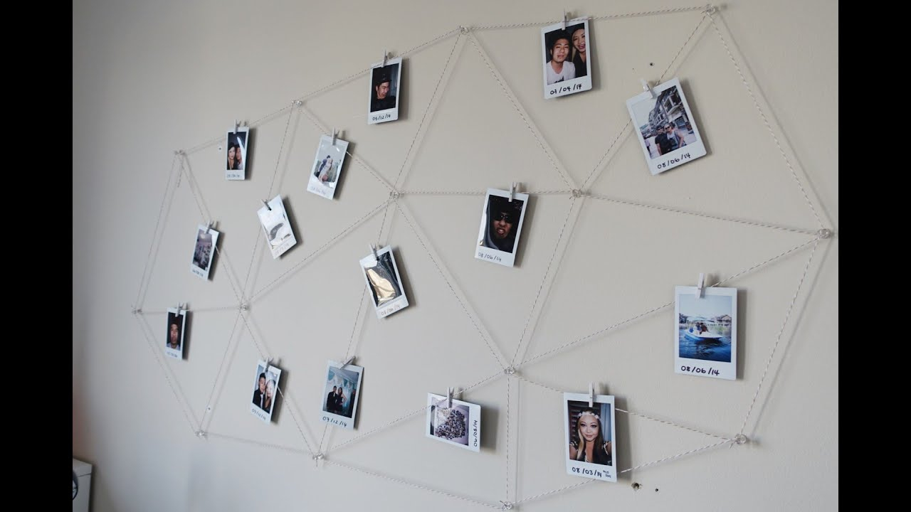Diy Polaroid Photo Wall Display Youtube