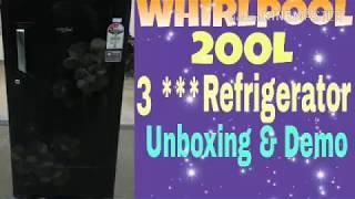 Whirlpool 200 Litre 3 star Fridge #Unboxing #Demo