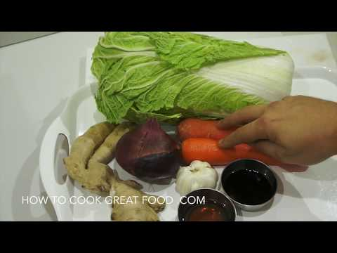 ★★ Chinese Cabbage Ginger Stir Fry Recipe - Asian Wok Vegan