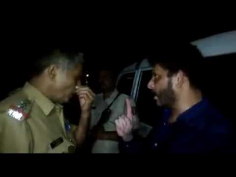 1 Man angry on police officer (S.P)