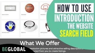 How to use the website search field   BeGlobal
