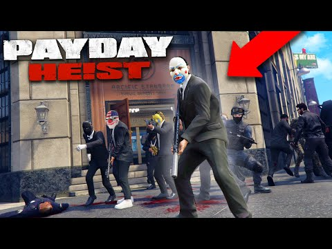 PAYDAY 2 IN GRAND THEFT AUTO 5! *BANK HEIST!*   THUG LIFE #433